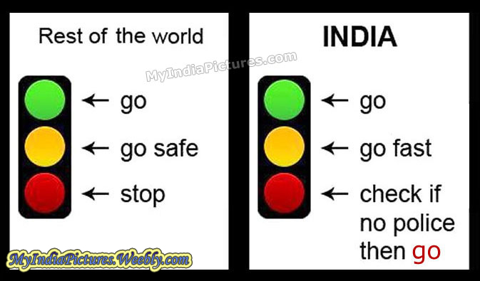 traffic signal rules in india funny   my india pictures